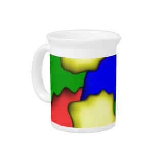 Plain Colorful Drink Pitcher