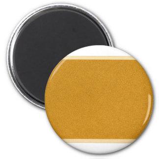 Plain cork board refrigerator magnet