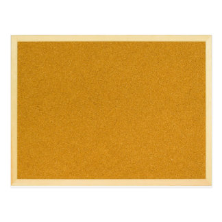 Plain cork board postcard