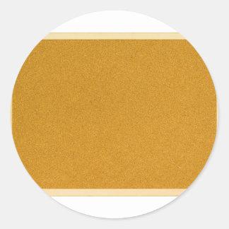 Plain cork board stickers