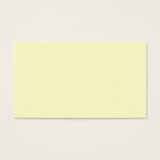 Plain Cream Background Business Card