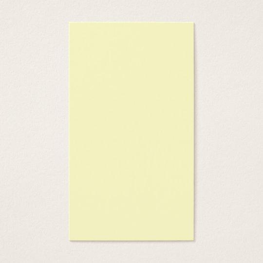 Plain Cream Background Business Card