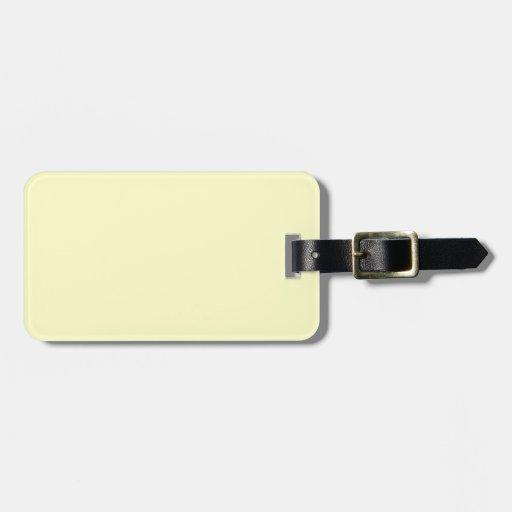 Plain Cream Background. Travel Bag Tag