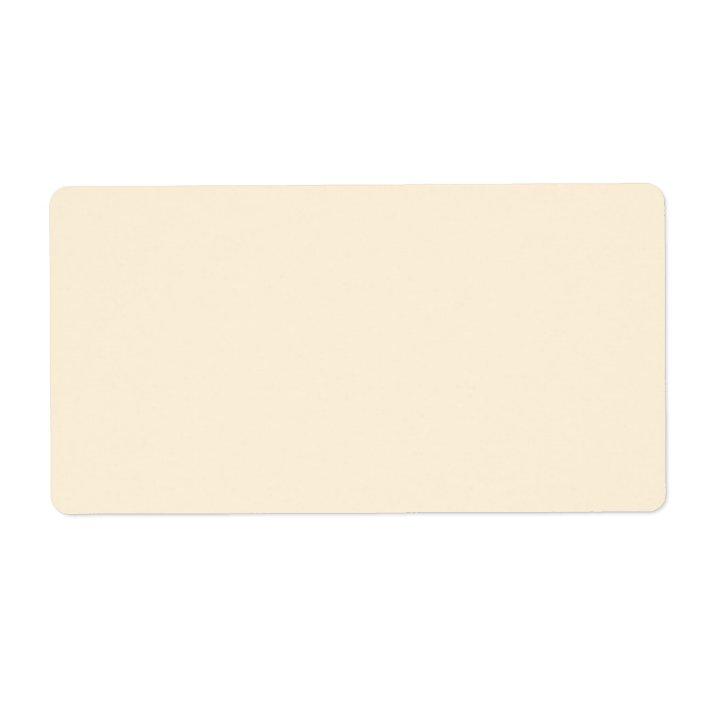 Plain Cream Or Ivory Background Blank Custom Label Zazzle Com