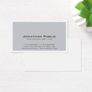 Plain Creative Grey White Design Modern Elegant Business Card