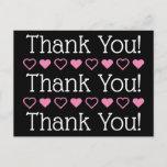 "[ Thumbnail: Plain, Dapper and Simple ""Thank You!"" Postcard ]"