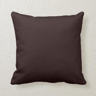 Plain Dark Brown Background Pillows