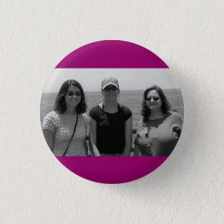 Plain Dark Fuschia Pink Photo frame Pinback Button