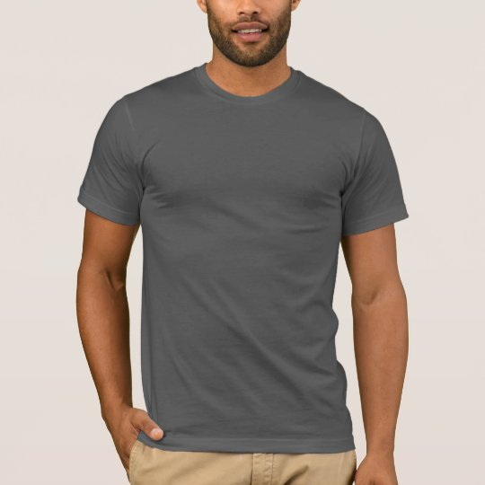 966690be82d8 Plain dark grey fitted crew neck t-shirt for men | Zazzle.com