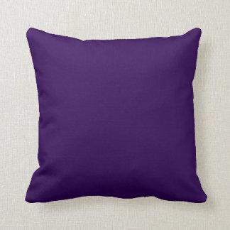 Plain Dark Purple Background Throw Pillows