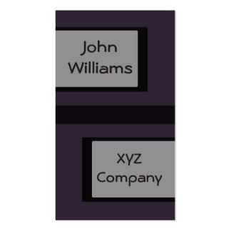 Plain dark purple business card