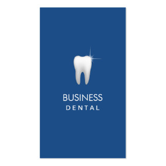 Plain Dental Royal Blue Professional Appointment Business Card