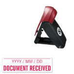 """[ Thumbnail: Plain """"DOCUMENT RECEIVED"""" Rubber Stamp ]"""