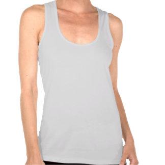 Plain eggshell t-shirt for women, ladies racerback