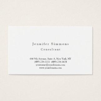 Plain Elegant Black White Modern Business Card