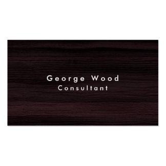 Plain Elegant Brown Wood Texture Minimalist Business Card