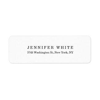 Plain Elegant Classical Black White Minimalist Label