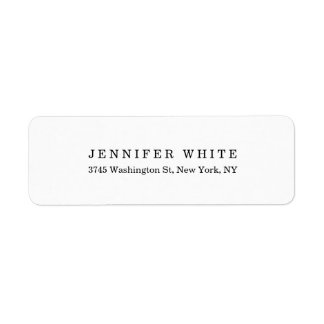 Plain Elegant Classical Black White Minimalist Label