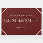 [ Thumbnail: Plain & Elegant Funeral/Memorial Guest Book ]