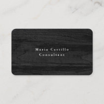 Plain Elegant Grey Wood Texture Minimalist Modern Business Card
