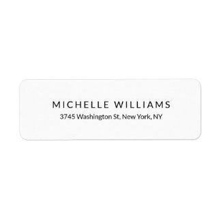 Plain Elegant Modern Black White Minimalist Chic Label