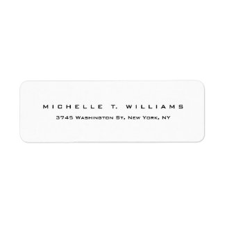 Plain Elegant Modern Black White Minimalist Label