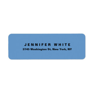 Plain Elegant Modern Blue Grey Minimalist Label