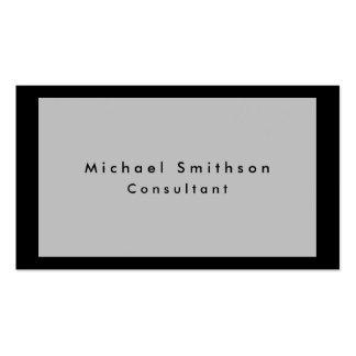 Plain Elegant Modern Grey Black Minimalist Business Card