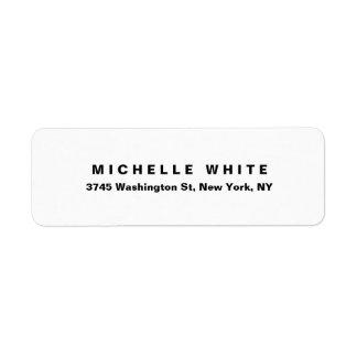 Plain Elegant Modern Minimalist Black & White Bold Label