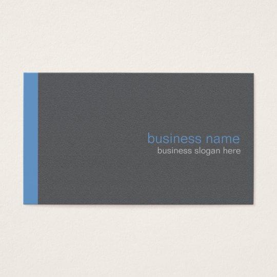 Plain Elegant Modern Simple Blue Stripe Business Card