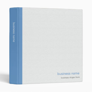 Plain Elegant Modern Simple Blue Stripe on White Binder