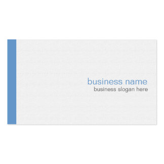 Plain Elegant Modern Simple Blue Stripe on White Business Cards