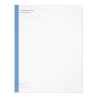 Plain Elegant Modern Simple Blue Stripe on White Letterhead