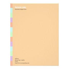 Plain Elegant Modern Simple Color Stripe on Orange