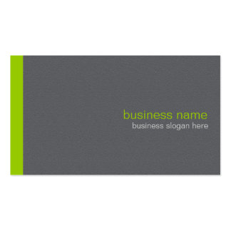 Plain Elegant Modern Simple Green Stripe Business Card Template