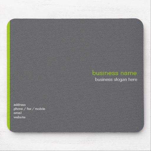 Plain Elegant Modern Simple Green Stripe Mouse Pad