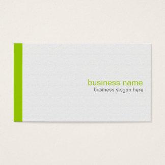 Plain Elegant Modern Simple Green Stripe on White Business Card