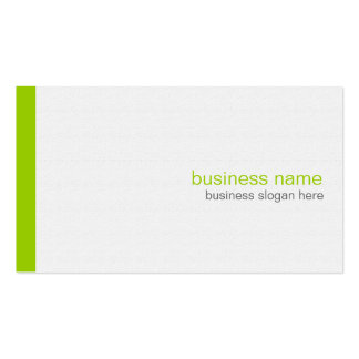 Plain Elegant Modern Simple Green Stripe on White Double-Sided Standard Business Cards (Pack Of 100)