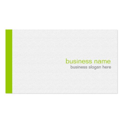 Plain Elegant Modern Simple Green Stripe on White Double-sided Standard Business Cards (pack Of 100)