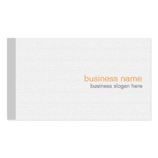 Plain Elegant Modern Simple Grey Stripe on White Business Cards