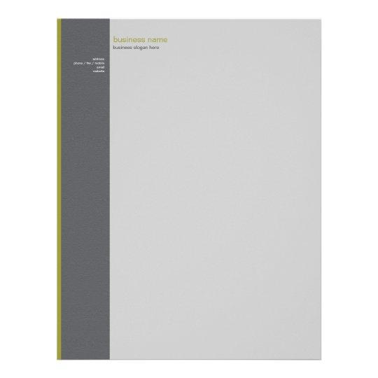 Plain Elegant Modern Simple Olive Stripe Letterhead