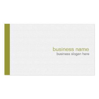 Plain Elegant Modern Simple Olive Stripe on White Double-Sided Standard Business Cards (Pack Of 100)