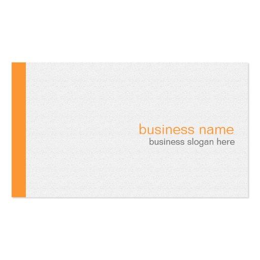 Plain Elegant Modern Simple Orange Stripe on White Business Card Template