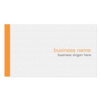 Plain Elegant Modern Simple Orange Stripe on White Double-Sided Standard Business Cards (Pack Of 100)