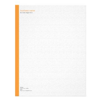 Plain Elegant Modern Simple Orange Stripe on White Letterhead