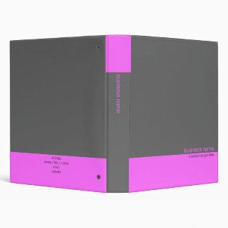 Plain Elegant Modern Simple Pink / Grey Stripe 3 Ring Binder