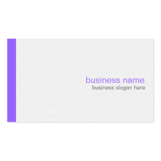 Plain Elegant Modern Simple Purple Stripe on White Double-Sided Standard Business Cards (Pack Of 100)