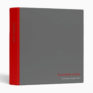 Plain Elegant Modern Simple Red Stripe Binder