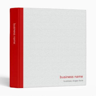 Plain Elegant Modern Simple Red Stripe on White Binder