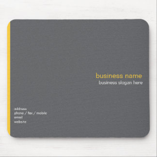 Plain Elegant Modern Simple Yellow Stripe Mouse Pad